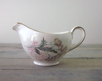 SALE Shabby Chic China Pitcher Server with Floral Design Meakin