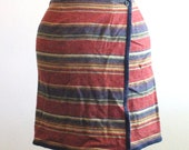 Vintage Woolrich Woolen Southwest Native Wrap Skirt Sz S/M