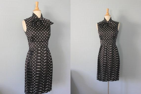 1960s dress / 60s polka dot dress / Howard Wolf dress
