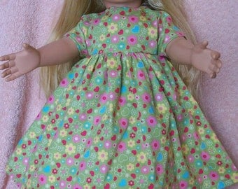 "Floral Dress for 18"" Dolls"