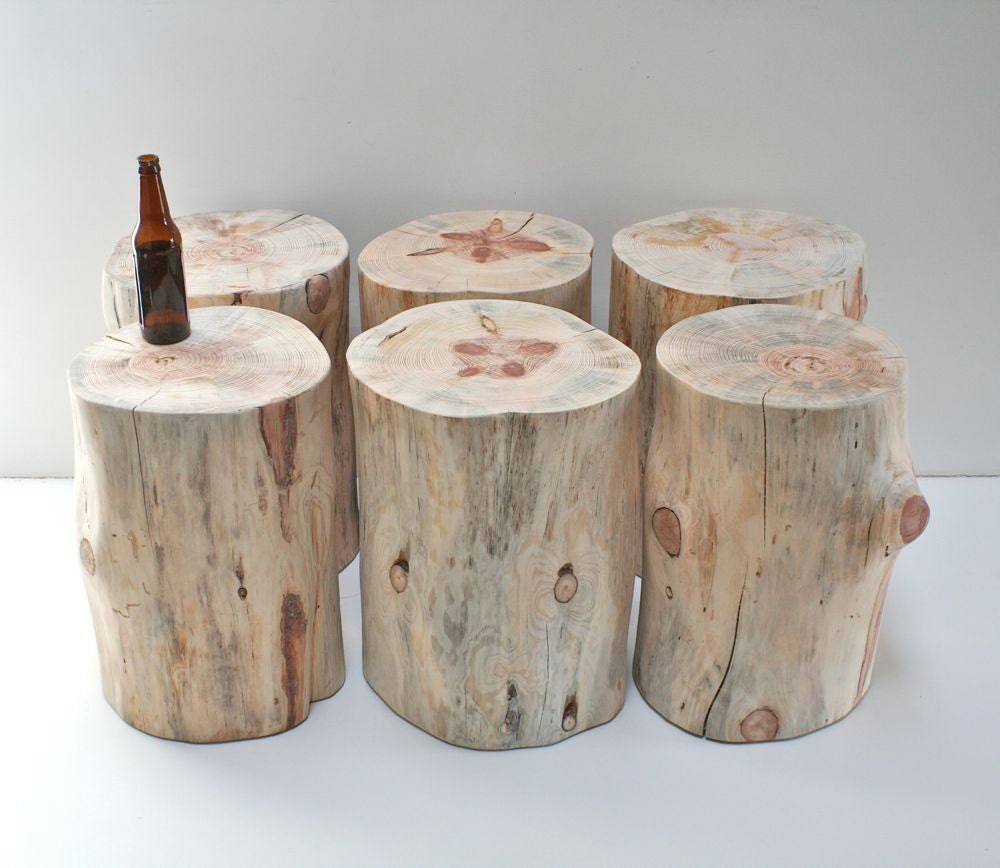 Stump Table Natural No Finish Sealer Applied Tree Trunk Stool : ilfullxfull37399292633md from etsy.com size 1000 x 868 jpeg 107kB