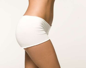 White Lingerie Panties - Boyshort - Wedding Honeymoon Undergarments