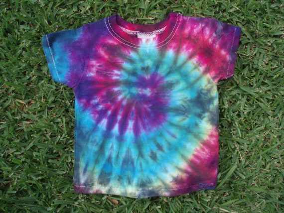 Tie Dye Toddler Tshirt 12 Month Hippie Baby Clothing by selfex