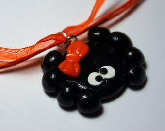 Spider Polymer Clay Necklace