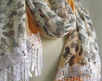 Cotton SCARF //  Rectangle scarf // Fabric scarf // woman gift // mom gift