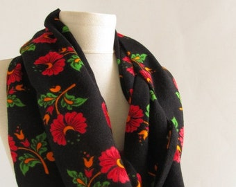 Turkish Divitin fabric - cotton scarves - black scarvves /circle scarf