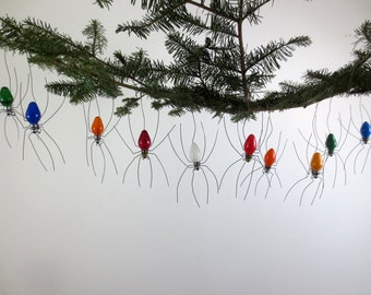Choose Your Color Single Small Lucky Christmas Spider Christmas Tree Ornament
