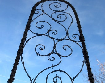 Epic 6 Foot Barbed Wire Spirilian Trellis Made to Order