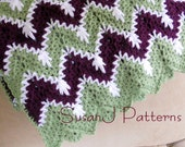 Instant download - Snow Drops in the Valley - Crochet Afghan Pattern  - PDF