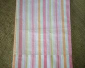 Vintage Pillowcase- Pastel Stripe