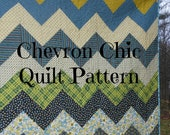 PDF quilt pattern -- Chevron Chic-- three design variations in ONE pattern-- multiple size options