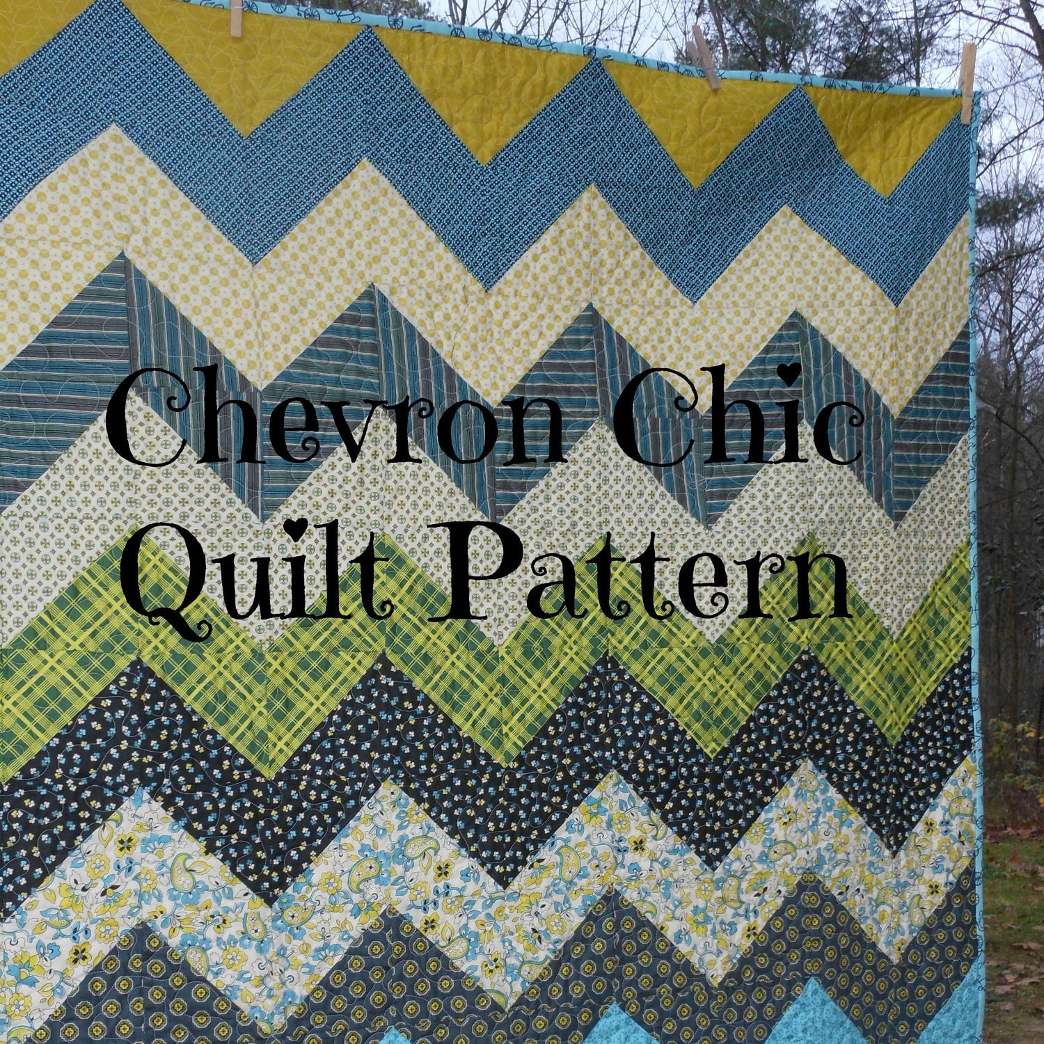 PDF quilt pattern Chevron Chic three design variations in : chevron quilt patterns - Adamdwight.com