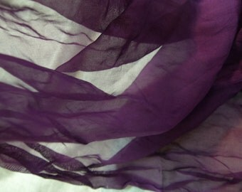 Purple 100% silk  fabric  for Nuno Felting, hand made flowers, quilting or clothes....