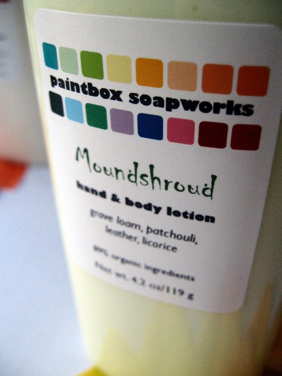 Moundshroud Organic Hand and Body Lotion - Grave Loam, Patchouli, Leather, Licorice... Limited Edition