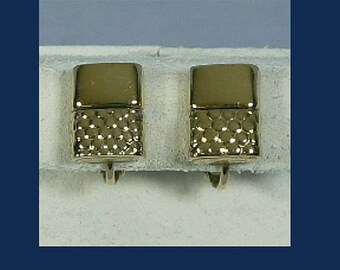 Vintage Napier Lighter Novelty Earrings, Tobacciana Collectible, Goldtone