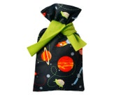"""Flannel Hottie Cover with """"Groovy Galactic"""" print"""