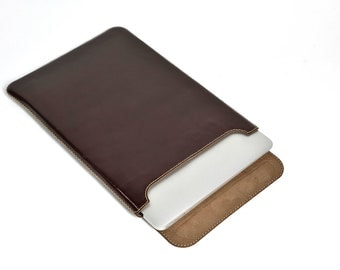 "Leather Sleeve for MacBook Air 13"" (Top Closing)"