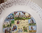 Collectible Souvenir Plate Vintage Souvenirs Vintage Decorative Plate Wyoming Souvenir Retro Home Decor