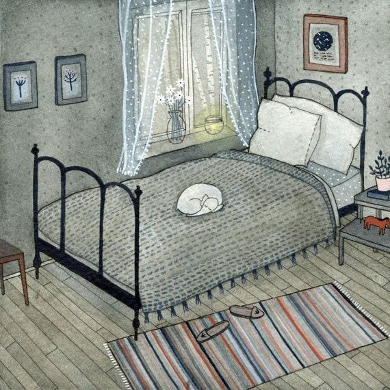 bedroom (print)
