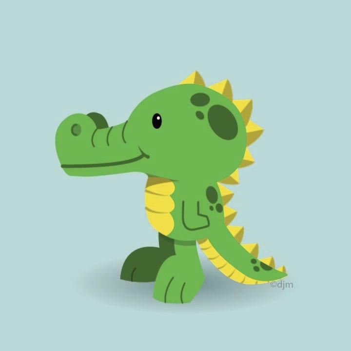 Alligator Print 12x12