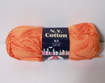 N.Y. Yarns 100% Cotton Mercerized Yarn Color No. 004 MELON DISCONTINUED