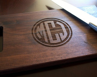 Cutting Board Personalized Cutting Board Laser Engraved 8x14 Circle Monogram Cutting Board CB814CM