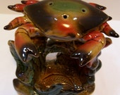 Crab, Sealife, Scented Votive, Potpourri, Porcelain Crab on Seaweed