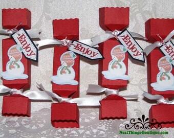 Snowman Enjoy Christmas Holiday Favor Box Set of 4