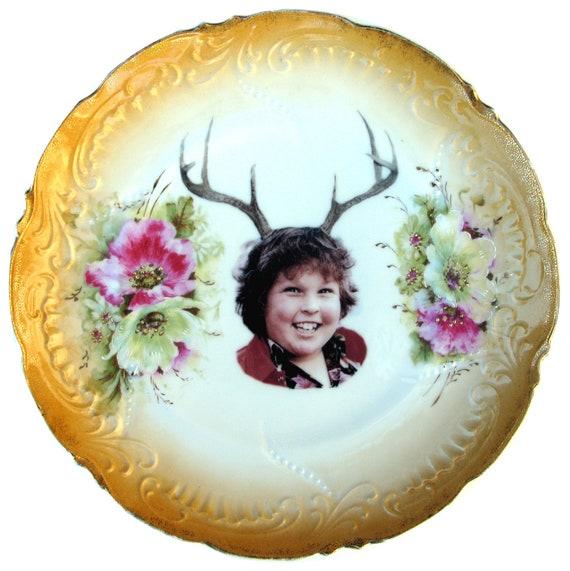 Deer Ol' Chunk Portrait  - Altered Antique Plate