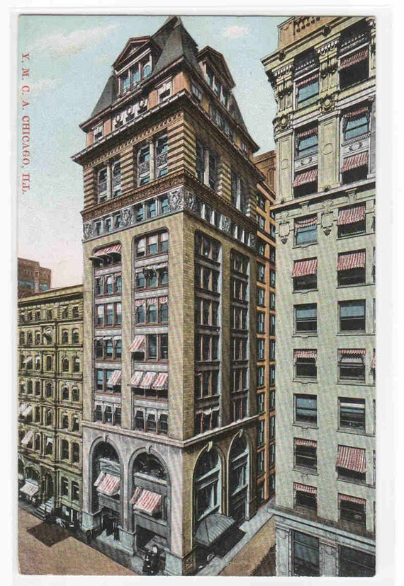 YMCA Building Chicago Illinois 1910c postcard