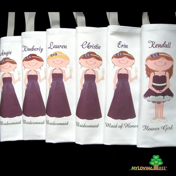 gift idea bridesmaids gift bags wedding or bridal shower party ...