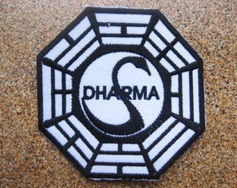 Free shipping LOST DHARMA TV Series Patch Badge 7.5x7.5cm