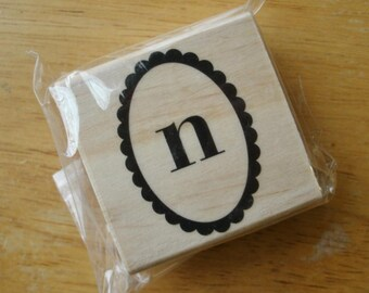Lowercase N Rubber Stamp
