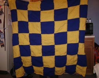 Custom Hand Knit Large Blanket or Quilt
