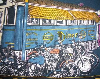 vintage tshirt HARLeY DaVIDSON Cleveland OHiO Trailer Diner Large American motorcycle