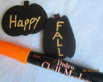 Orange Chalkboard Marker- Neon Orange Chalk Pen-Halloween Party Decorations-Bistro Chalk Marker for writing on Vinyl Chalkboard- Fall Colors