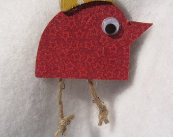 Rooster Ornament-Mixed Media Decoration Ornament- Christmas Ornament-Bird Rooster Tag