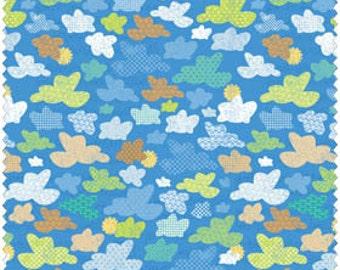 Blend Fabrics, Little Monkeys by Sharon Kropp 10210106-1 (Blue) 1 yard