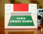 Home Sweet Home - Astroturf Door Mat Housewarming Card on 100% Recycled Paper