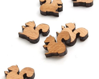 """XS Mini Squirrel Charms - 3/4"""" Size - Laser Cut Wood -  Etsy Itsies by Timber Green Woods"""