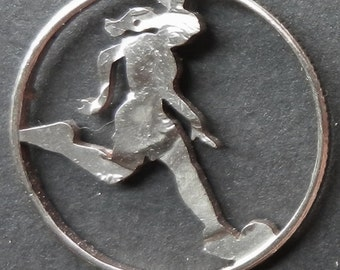 Soccer Hand Cut Coin Jewelry
