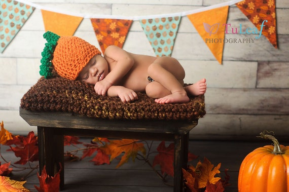 Newborn Photo Prop Chunky Brown Baby Blanket beautiful Fall colors Photography Prop