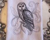 Baroque Url Owl - Fingertip Velour Bathroom Towel 11x18 - JD Designs