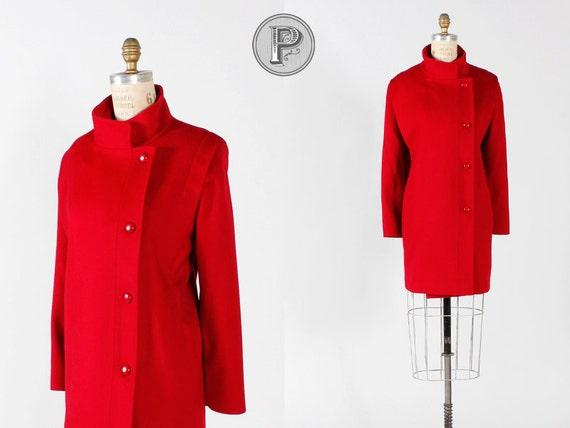 BLOWOUT SALE // 80s coat large xl / 1980s red wool coat : Down to Business