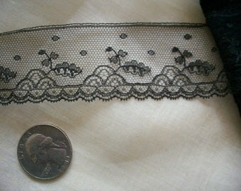 2 yds. of a Lovely antique silk black french lace