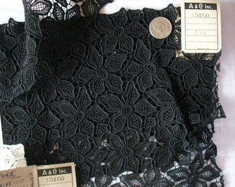 Antique black lace salesman's samples from the late 1920s