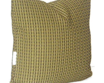 Mens Gift, Olive Green Decorative Throw Pillow Cover 16 X 16