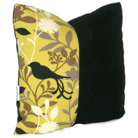 Bird Sillouette Print Throw Pillow Cushion Cover Home Decor