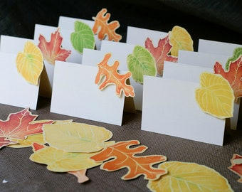 Fall Leaf place cards - Place Card - Gift Card - Table Number Card - Menu Card -weddings events