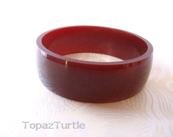 Marsala jewelry , dark red resin bangle, bracelet , jewelry , TopazTurtle , oxblood bangle , red resin bangle , red bracelet , red jewellery